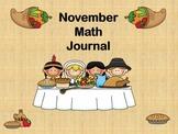 November Math Journal SMART Notebook