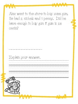 November Math Journal Second Grade