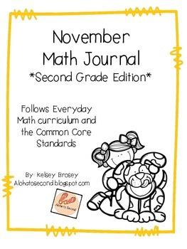 November Math Journal Second Grade
