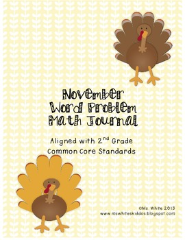 November Math Journal: Word Problems