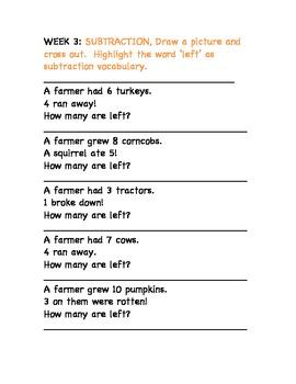 November Math Journal for First Grade