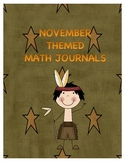 November Math Journal for First Grade