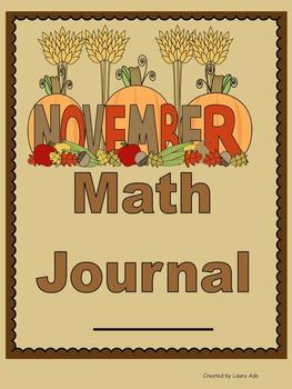 November Math Journal to fit CCSS Base Ten/Operations in Alegbric Thinking