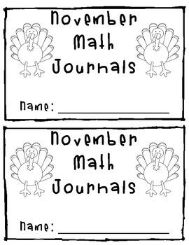 November Math Journals - 25 Days of Math Fun!