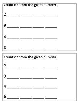 November Math Journals Kindergarten