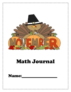 November Math Journals for K and 1st