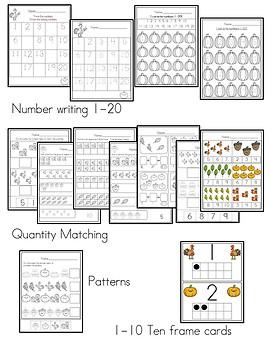 November Math (Kindergarten)