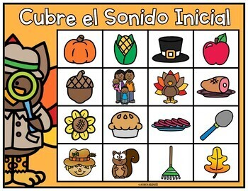 November Math & Literacy Centers in Spanish | Thanksgiving