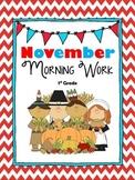 November Math & Literacy Morning/Homework CCSS Alligned