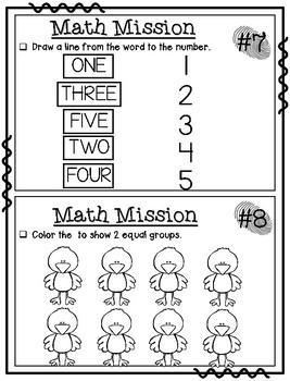 November Math Missions
