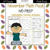 Second Grade Math Pack {November} NO PREP