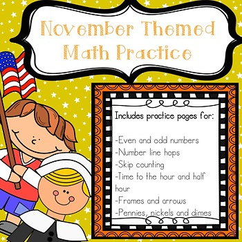 November Math Practice Pages