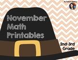 November Math Printables