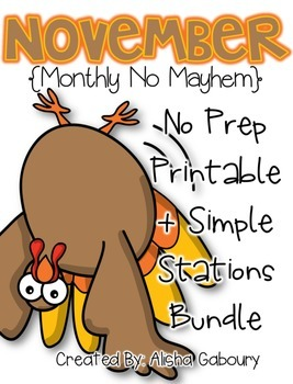 November Math Bundle [Monthly No Mayhem]