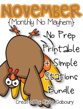 November Math Bundle [Monthly No Mayhem]