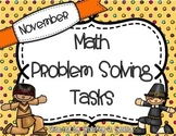 November Math Problem Solving Tasks