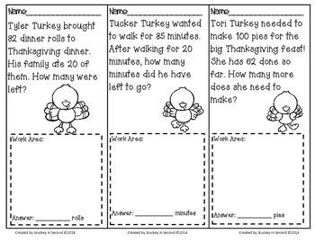 November Math Problem Solving Tasks