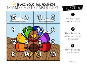 November Number Sense Math Puzzles