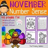 November/Thanksgiving Math Activities including number sense
