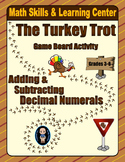 Thanksgiving Math Skills & Learning Center (Add & Subtract Decimals)