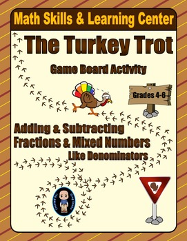Thanksgiving Math Skills & Learning Center (Fraction Compu