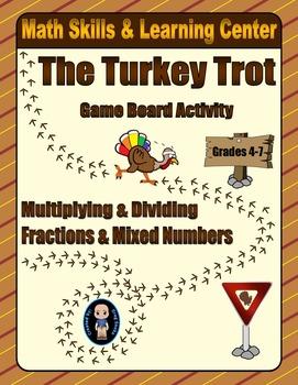 Thanksgiving Math Skills & Learning Center (Multiply & Div