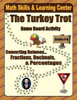 Thanksgiving Math Skills & Learning Center (Understanding Fractions Bundle)
