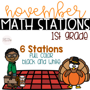November Math Stations 1st Grade