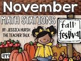 November Math Stations - 3rd Grade