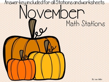 November Math Stations - Bundle