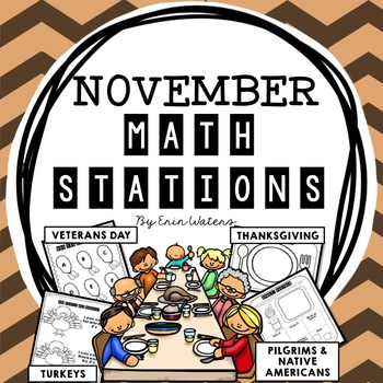 November Math Stations (Thanksgiving, Veterans Day, Turkey