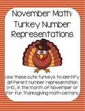 November Math: Turkey Number Representations