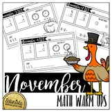 November Math Warm Ups - Differentiated for 2 levels!