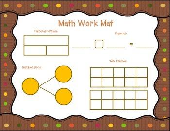 November Math Work Mat