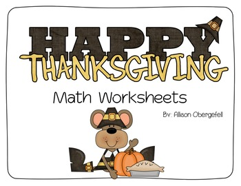 November Math Worksheets
