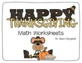 November Math Worksheets