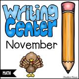 November Math Writing Station