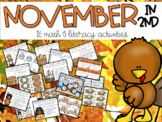 November Math and Literacy Activities 2nd Grade