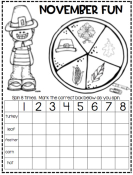 November Math and Literacy Activities...Print and Go!