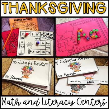 Thanksgiving Activities-November Math and Literacy Centers and Activities