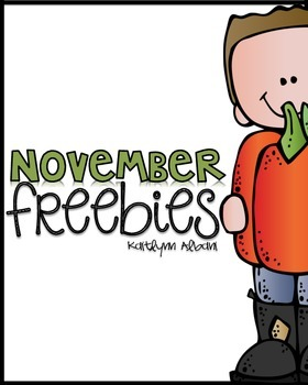 November Math and Literacy Freebies!