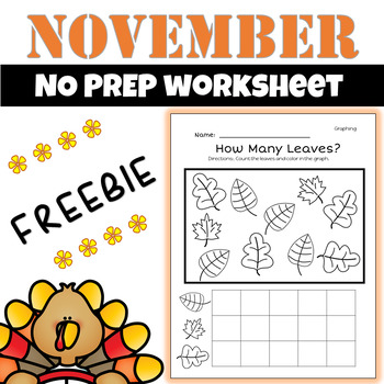 November Math and Literacy{Leaf Graphing Freebie}