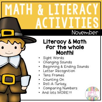 November Math and Literacy Stations