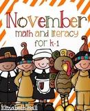 November- Math and Literacy Unit