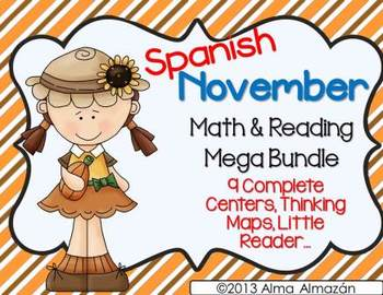 November Math and Reading Mega Bundle Spanish Version