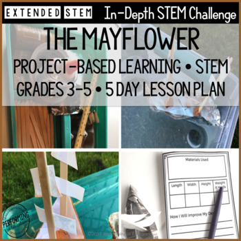 November STEM Project-Based Learning Activity - Mayflower Theme (5 Day Lesson)