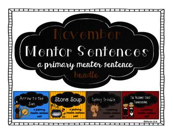 November Mentor Sentence Bundle