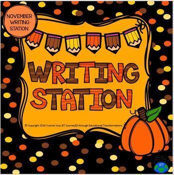 November Mini Writing Station