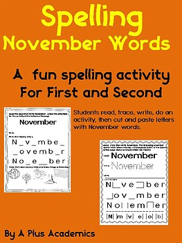 First Grade Morning Start With November Words