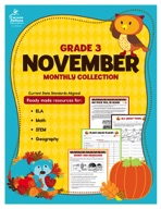 November Monthly Collection, Grade 3